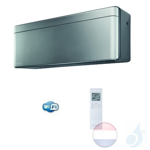 Daikin FTXA50AS 5.0 kW Binnendelen Multi Split Air Conditioner Muur R-32 Serie Stylish FTXA-A WiFi kleur Zilver 18000 Btu