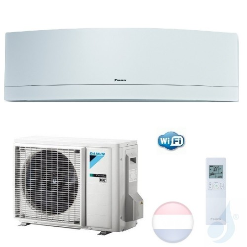 Daikin FTXJ50MW RXJ50M 5.0 kW Mono Split Air Conditioner Muur Gas R-32 Serie Emura FTXJ-MW WiFi A++/A+ 18000 Btu kleur Wit