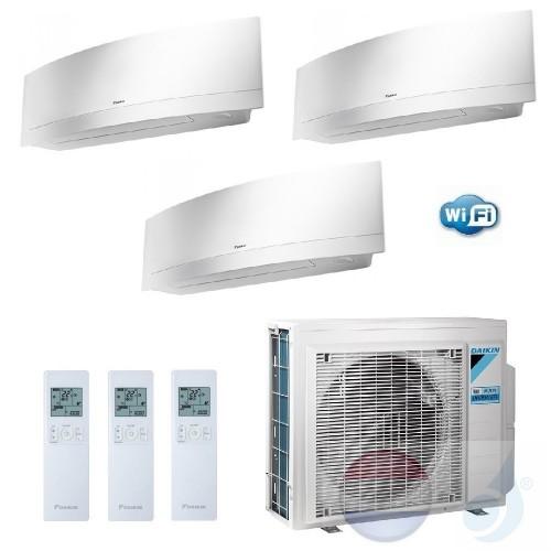 Daikin Trio Split 2.0+2.0+2.5 +5.2 kW Emura FTXJ-MW Wit Air Conditioner WiFi R-32 2x FTXJ20MW +FTXJ25MW +3MXM52M A+++/A++ 7+7+9