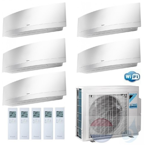 Daikin Penta Split 2.5+2.5+2.5+2.5+2.5 +9.0 kW Emura FTXJ-MW Wit 5MXM90N Air Conditioner Warmtepomp WiFi A++/A+ Btu