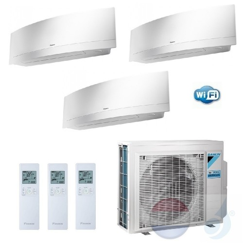 Daikin Trio Split 3.5+3.5+3.5 +6.8 kW Emura FTXJ-MW Wit Air Conditioner WiFi R-32 3xFTXJ35MW +3MXM68M A++/A+