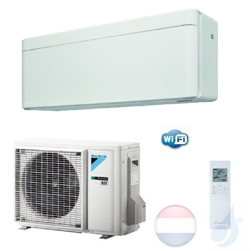 Daikin FTXA25AW RXA25A 2.5 kW Mono Split Air Conditioner Muur Gas R-32 Serie Stylish WiFi A+++/A+++ 9000 Btu kleur Wit