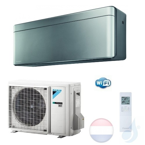 Daikin FTXA20AS RXA20A 2.0 kW Mono Split Air Conditioner Muur R-32 Serie Stylish WiFi A+++/A+++ 7000 Btu kleur Zilver