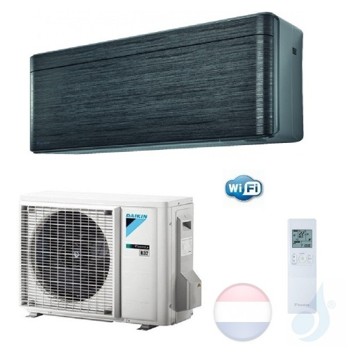 Daikin FTXA20AT RXA20A 2.0 kW Mono Split Air Conditioner Muur R-32 Serie Stylish Blackwood WiFi A+++/A+++ 7000 Btu kleur Zwart