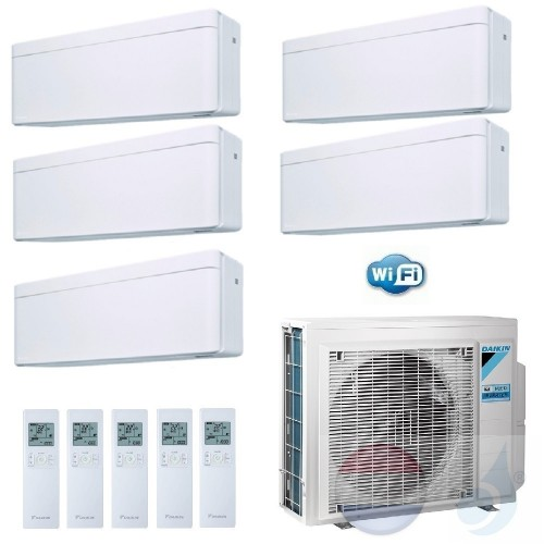 Daikin Penta Split 2.5+2.5+2.5+2.5+2.5 +9.0 kW Stylish Wit 5MXM90N Air Conditioner Warmtepomp WiFi A++/A+ 9+9+9+9+9 Btu