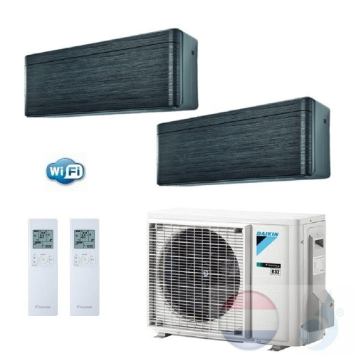 Daikin Duo Split 2.0+2.0 +4.0 kW Stylish Blackwood Zwart 2MXM40M Air Conditioner Warmtepomp WiFi A+++/A++ 7+7 Btu