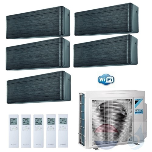 Daikin Penta Split 2.0+2.0+2.0+2.0+2.5 +9.0 kW Stylish Blackwood Zwart 5MXM90N Conditioner Warmtepomp WiFi A++/A+ 7+7+7+7+9 Btu