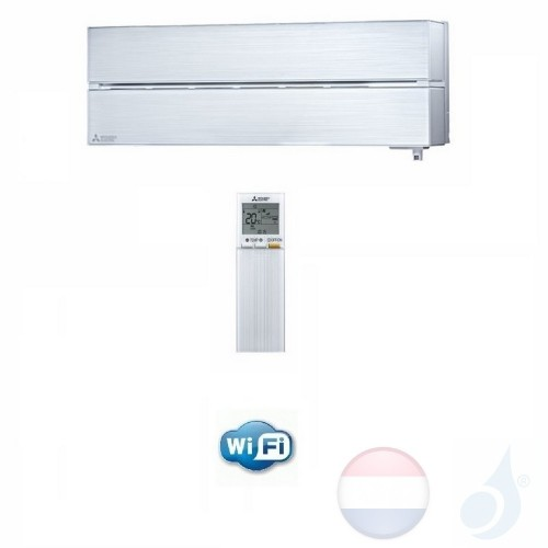 Mitsubishi MSZ-LN25VGV Binnendelen Multi Split 2.5 kW Air Conditioner Gas R-32 kleur Pearl Wit WiFi 9000 Btu