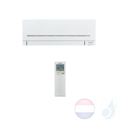 Mitsubishi MSZ-AP25VG Binnendelen Multi Split 2.5 kW Air Conditioner Gas R-32 kleur Wit WIFI OPT. 9000 Btu