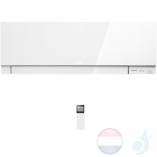 Mitsubishi MSZ-EF35VGW Binnendelen Multi Split 3.5 kW Air Conditioner Gas R-32 kleur Wit WIFI OPT. 12000 Btu