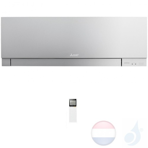 Mitsubishi MSZ-EF25VGS Binnendelen Multi Split 2.5 kW Air Conditioner Gas R-32 kleur Zilver WIFI OPT. 9000 Btu