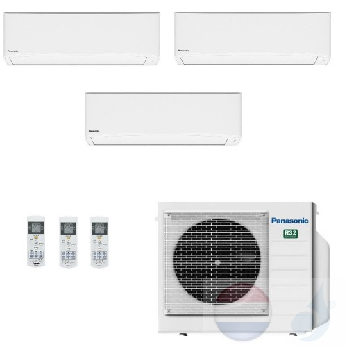 Panasonic Conditioner Trio Split 2.5+2.5+2.5 + 5.2 kW CU-3TZ52TBE R-32 WiFi Opz. Serie TZ Compact Wit warmtepomp A+/A++ 9+9+9