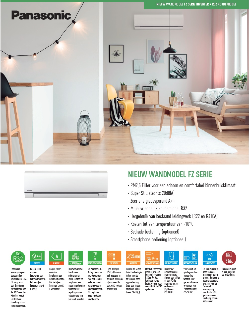 Air Conditioner Panasonic Mono Split 6.0 kW Serie FZ A++/A