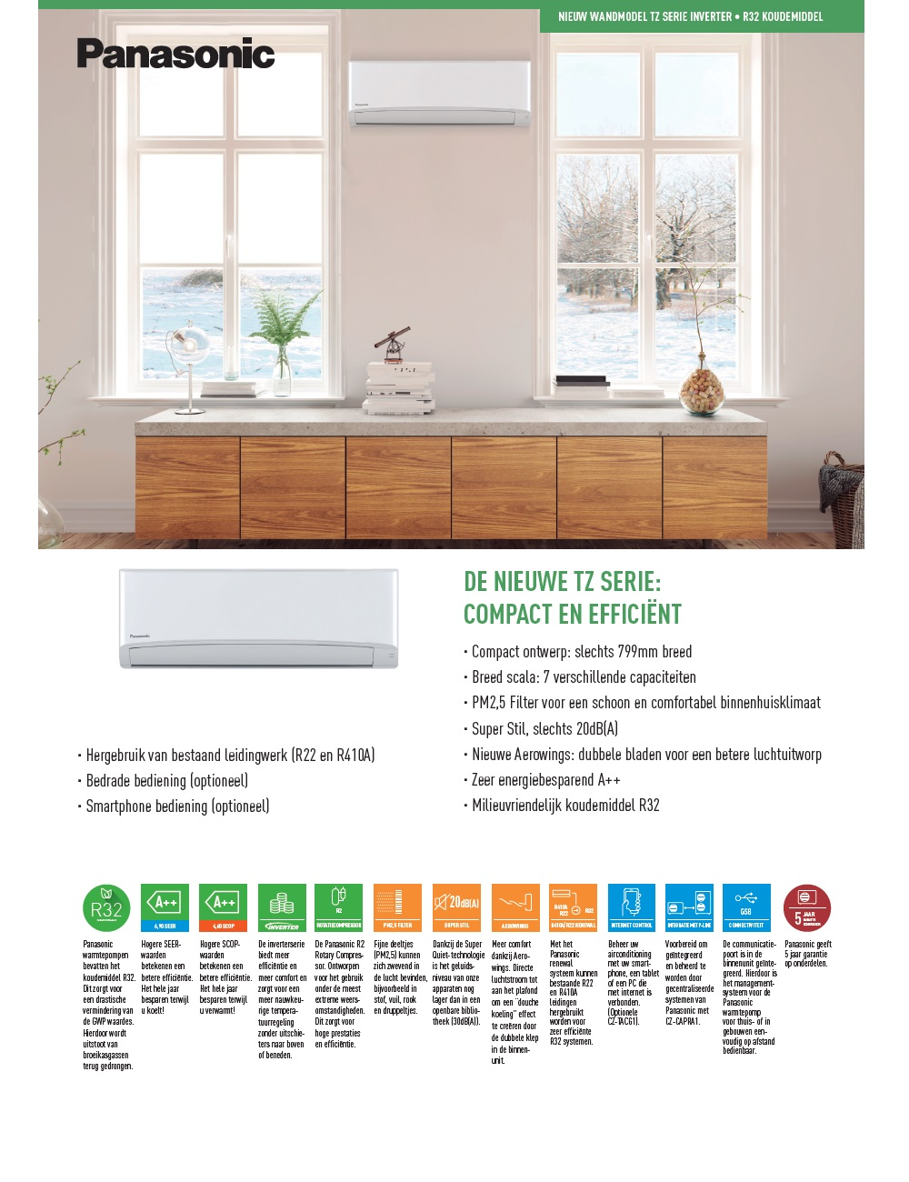 Air Conditioner Panasonic Mono Split 3.5 kW Serie TZ A++/A++